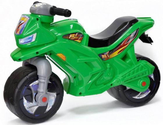 Каталка-беговел двухколёсный RT Мотоцикл Racer RZ 1 зеленый ОР501
