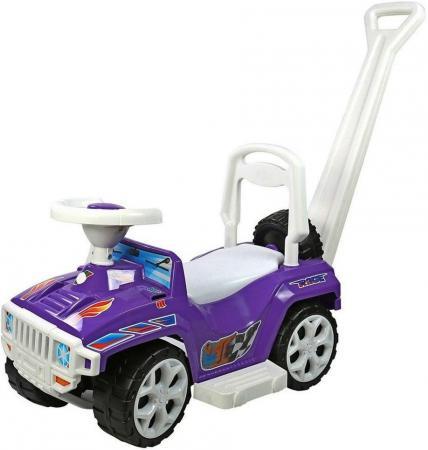 Каталка-машинка Rich Toys Race Mini Formula 1 пластик от 10 месяцев с ручкой для родителей фиолетовый ОР856 rt ор856 каталка с родительской ручкой race mini formula 1 цвет розовый