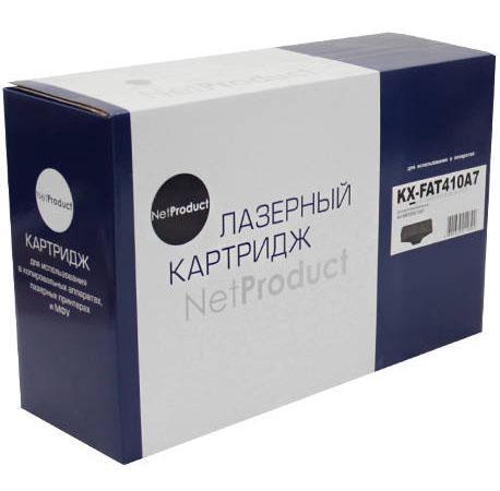 Фото - Картридж NetProduct KX-FAT410A/A7 для Panasonic KX-MB1500/1520 черный 2500стр картридж cactus cs fat410a для panasonic kx fat410a7 mb1500 mb1507 mb1520 черный 2500стр
