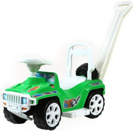 Каталка-машинка Rich Toys Mini Formula 1 пластик от 10 месяцев с ручкой для родителей зеленый ОР856 каталка rich toys гоночный спорткар super sport 1 пластик от 10 месяцев черно красный ор894