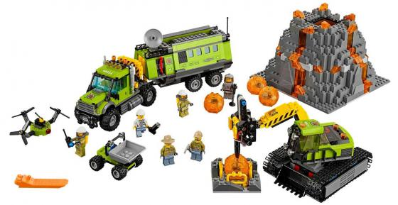 Конструктор LEGO City - База исследователей вулканов 824 элемента 60124