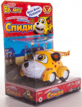 Интерактивная игрушка Ling Dong Vroomiz Функциональная машинка Спиди от 3 лет жёлтый V8321 vroomiz машинка банги функциональная