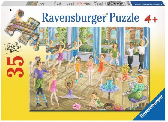 Пазл 35 элементов Ravensburger Урок балета ravensburger урок балета 8779