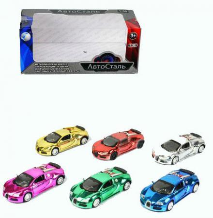 Инерционная металлическая  игрушка Tongde Автосталь в ассортименте свет звук  1х36   В72459