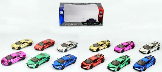 Инерционная металлическая  игрушка Tongde Автосталь в ассортименте свет звук  1х36   В72462