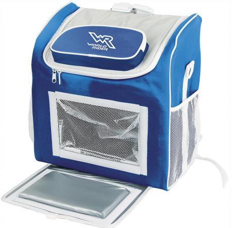 цена Сумка-холодильник World Rider WR 6517 24,5л синий белый онлайн в 2017 году