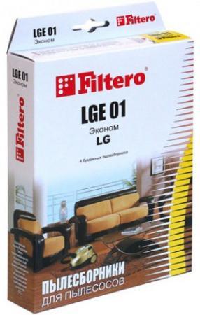 Пылесборники Filtero LGE 01 Эконом 4шт пылесборники filtero uns 01 эконом универсальные 2
