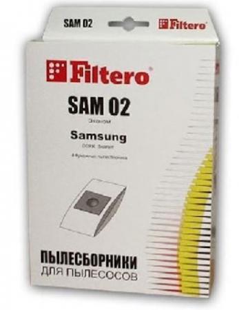 Фото - Пылесборник Filtero SAM 02 Эконом 4 шт filtero sam 03 xxl pack экстра пылесборник 8 шт