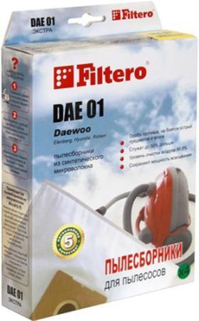 Пылесборник Filtero DAE 01 Comfort 4 шт пылесборник для сухой уборки filtero sam 01 4 comfort