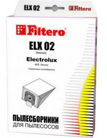 Пылесборники Filtero ELX 02 Эконом 4 шт пылесборники filtero dae 03 эконом бумажные 4