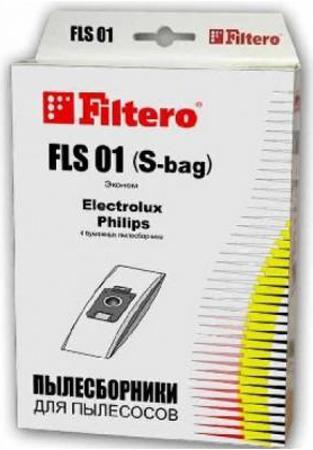 Пылесборники Filtero FLS 01 Эконом 4шт filtero fls 01 standart