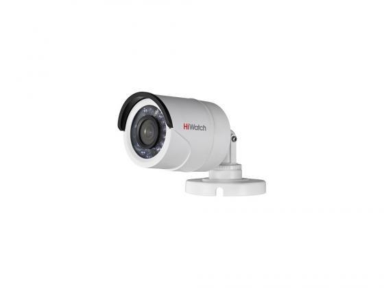 Камера видеонаблюдения Hikvision DS-T100 уличная цветная 1/4 CMOS 2.8 мм ИК до 20 м ip камера hiwatch ds i122 4 mm 1 3мп уличная купольная мини ip камера ик подсветкой до 15м 1 3 cmos матрица объектив 4мм угол обзора 73 1° ме