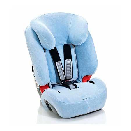Летний чехол для автокресла Britax Romer Evolva 1-2-3/Evolva 1-2-3 Plus (голубой) летний чехол для автокресла britax romer king plus safefix plus tt бежевый