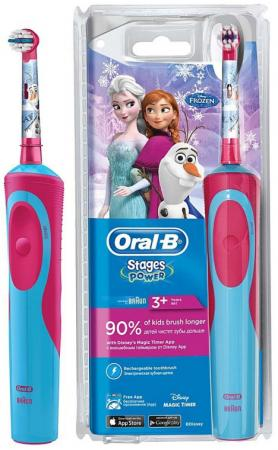Зубная щётка Braun Oral-B Frozen Vitality Kids голубой/красный