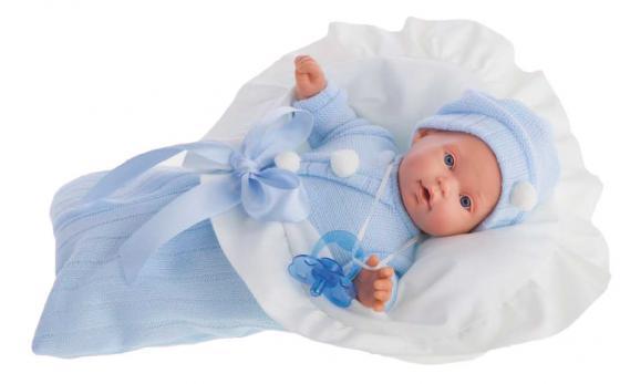 купить Кукла Munecas Antonio Juan Ланита в голубом 27 см плачущая 1110B по цене 2490 рублей