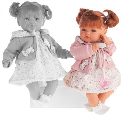 Кукла Munecas Antonio Juan Каталина в розовом 42 см плачущая 1668P munecas antonio juan кукла лучия в розовом 37 см munecas antonio juan