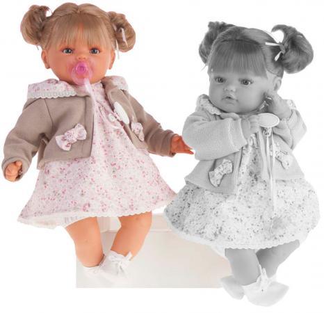 Кукла Munecas Antonio Juan Каталина в бежевом 42 см плачущая 1668W кукла munecas antonio juan белла плачущая