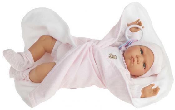 Кукла Munecas Antonio Juan Берта в розовом 52 см со звуком 1950P