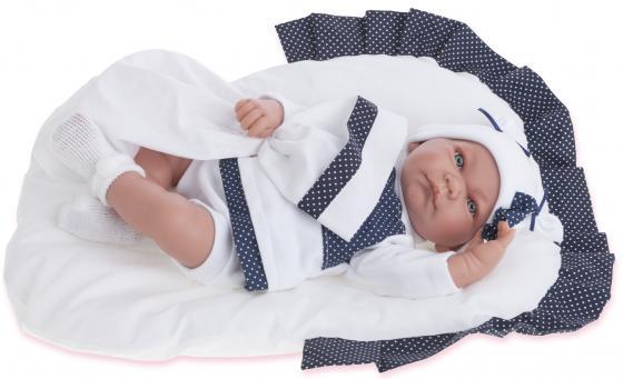 Кукла Munecas Antonio Juan Рамон в синем 40 см со звуком 3360B кукла antonio juan марти pink 1781p