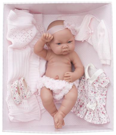 Кукла-младенец Munecas Antonio Juan Эльза в розовом 42 см 5073P кукла munecas antonio juan соня в ярко розовом 37 см плачущая 1443v
