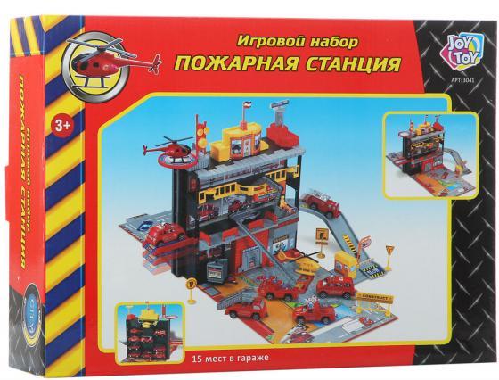 Play Smart игровой набор ;Пожарная станция, 26х36х9см Р41446 play smart набор военной техники с солдатами play smart битва рас 34см арт 3035 к35510