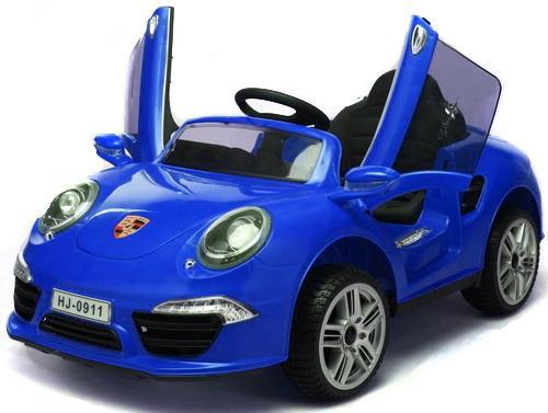 Электромобиль Porsche 911; 1TOY Синий Т58723 купить юбку бампера порше 911