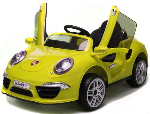 "Электромобиль ""Porsche 911"" Жёлтый Т58722 электромобиль 1toy порше кайен р р 120х62 5х49см т58710"