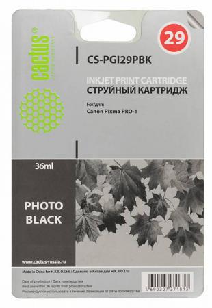 Картридж Cactus CS-PGI29PBK для Canon Pixma Pro-1 фото черный картридж cactus cs pgi29pbk для canon pixma pro 1 фото черный