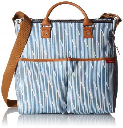 Сумка для мамы на коляску Skip Hop (орнамент голубые полоски) сумки для мамы skip hop на коляску nolita neoprene