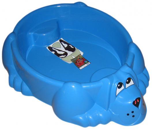 Песочница-бассейн Marian Plast Собачка синяя 373 marian plast бассейн песочница собачка с крышкой