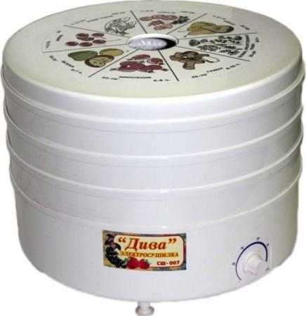 Сушилка для овощей  фруктов Ротор Дива СШ-007-06 белый 5 поддонов