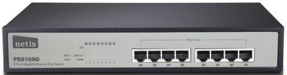 Коммутатор Netis PE6108G 8-портовый 10/100/1000 Мбит/с лопата truper pcl pe 31174
