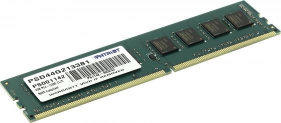 Фото - Оперативная память 4Gb (1x4Gb) PC4-17000 2133MHz DDR4 DIMM CL15 Patriot PSD44G213381 оперативная память patriot memory sl 4gb ddr4 2133mhz dimm 288pin cl15 psd44g213381