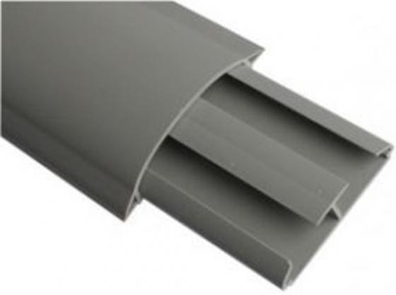 ДКС 01332 In-Liner Front CSP-F 75x17 Напольный канал 2 секционный, 1 перегородка, ПВХ, не распространяет горение, цвет серый 2м