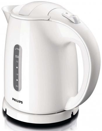Чайник Philips HD 4646/00 2400 Вт 1.5 л пластик белый мультиварка philips hd3134 00 665вт 3л пластик белый черный