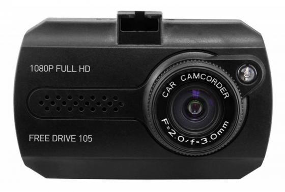 Видеорегистратор Digma FreeDrive 105 черный 1.3Mpix 1080x1920 NTK96220 автомобильный видеорегистратор digma freedrive 105