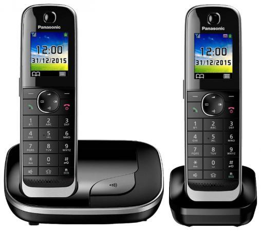 Радиотелефон DECT Panasonic KX-TGJ312RUB черный радиотелефон dect panasonic kx tg8051rub черный