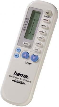Пульт ДУ Hama 40080 для кондиционеров пластик белый 1шт белый пластик пинцет инструмент для предохранителей бусины hama бисер diy головоломки сафти для детей ремесла