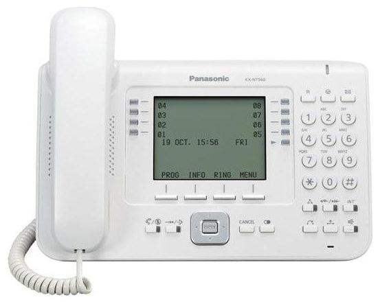 Телефон IP Panasonic KX-NT560RU белый телефон ip panasonic kx nt556rub черный