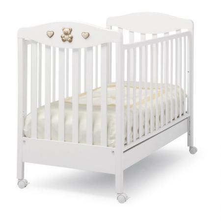 Кроватка Erbesi Tippy Jolie (белый) erbesi детская кроватка на колесиках erbesi jolie
