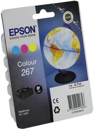 Картридж Epson C13T26704010 для WF-100 цветной original cc03main mainboard main board for epson l455 l550 l551 l555 l558 wf 2520 wf 2530 printer formatter