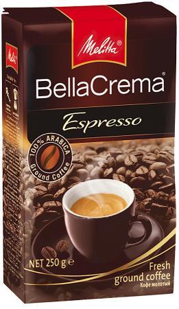 Кофе Melitta BellaCrema Espresso 250гр жареный молотый 00437 topperr er 1