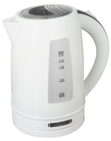 Чайник Zimber ZM-11108 2200 Вт 2 л пластик белый серый