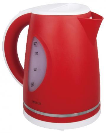Чайник Zimber ZM-11027 2200 Вт 1.7 л пластик белый красный