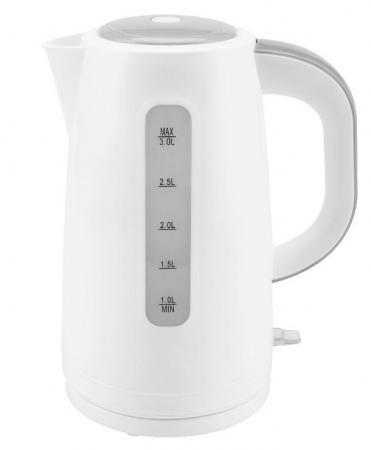 Чайник Zimber ZM-11107 2200 Вт 3 л пластик белый серый