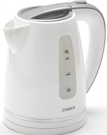 Чайник Zimber ZM-11110 2200 Вт 1.7 л пластик белый серый