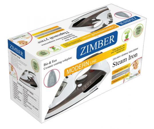 Утюг Zimber ZM-11080 2200Вт коричневый утюг zimber zm 11080 2200вт коричневый