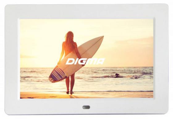 Цифровая фоторамка Digma PF-1033 белый 10.1 1024x600 пластик digma pf 833