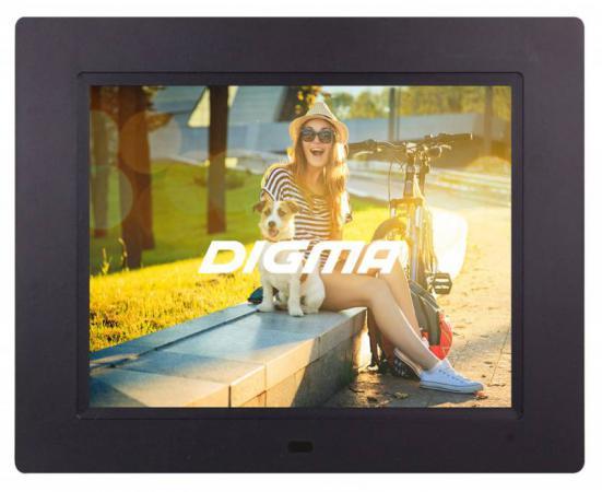 Цифровая фоторамка Digma PF-833 черный 8 1024x768 пластик цифровая фоторамка digma pf 833 black