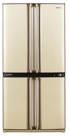 Холодильник Side by Side Sharp SJF95STBE бежевый холодильник side by side samsung rs 552 nrua9m wt